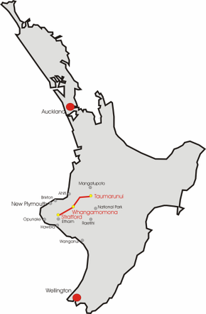 Where Is New Plymouth In New Zealand Map.New Zealand State Highway 43 Wikipedia