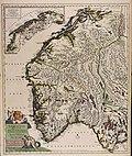 Norvegia regnum divisum in suos dioeceses Nidrosiensem Bergensem Opsloensem et Stavangriensem... - CBT 5871327.jpg