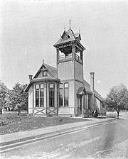 Norwood Ohio First Town Hall And City Hall Built 1882 Located At Montgomery Road and Elm Avenue Pictured In 1894