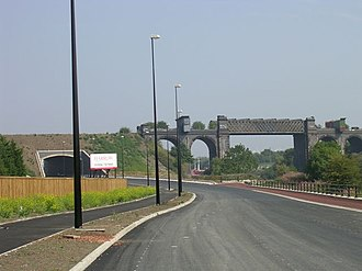 A57 road - Irlam bypass being built in September 2005