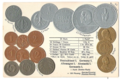 Numismatic post-card with contemporary coins - Hindenburg anniversary set.png