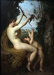 Nymph and Bacchus