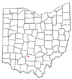 Location of Frankfort, Ohio