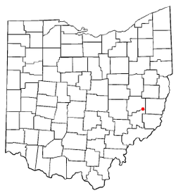 Location of Quaker City, Ohio