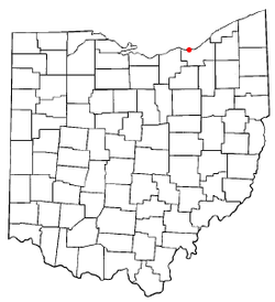 Location of Rocky River in Ohio