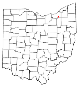Location of Walton Hills in Ohio