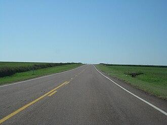 Oklahoma State Highway 152 - SH-152 in eastern Washita County