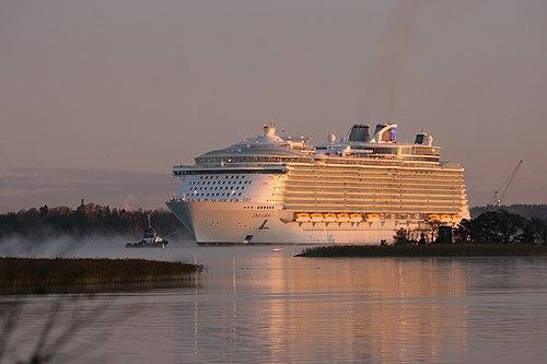 Oasis of the seas leaving STX shipyard, Turku, Finland