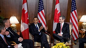 Michael Ignatieff - Ignatieff with US President Barack Obama in Ottawa on February 19, 2009