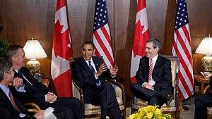 Michael Ignatieff - Ignatieff with US President Barack Obama in Ottawa on February 19, 2009