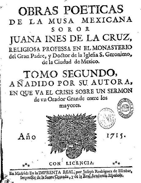 Segundo volumen de las obras de Sor Juana Inés de la Cruz, publicado en 1692.
