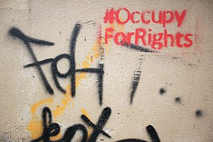 Hashtag - Image: Occupy for Rights