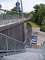 Ocelářská, cyklistická lávka, provizorní schodiště.jpg