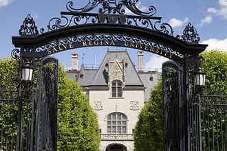 Salve Regina University - Entrance to Ochre Court, Salve Regina's first building