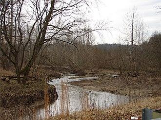 Balhinch, Indiana - Offield Creek in Balhinch