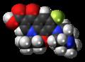 Ofloxacin molecule spacefill.png