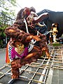 Ogoh-ogoh on the streets of Ubud during preparations for the parade.jpg