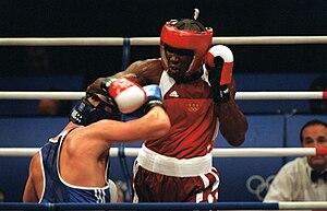 Olanda Anderson - Anderson fighting against Rudolf Kraj at the 2000 Summer Olympics in Sydney, Australia on September 24, 2000.