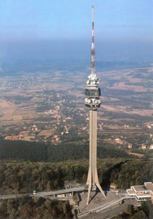 Avala Tower - Image: Old Avala TV Tower