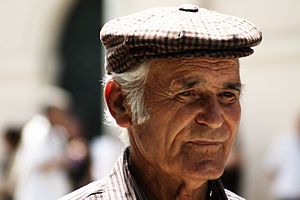 Blue Zone - An old Sardinian man.