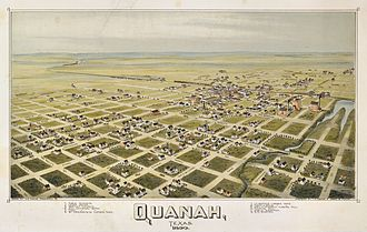 Quanah, Texas - Map of Quanah from (1890)