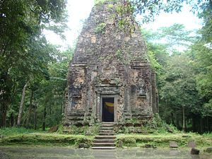 Khmer architecture - A temple in Sambor Prei Kuk
