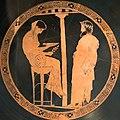 Oracle of Delphi, red-figure kylix, 440-430 BC, Kodros Painter, Berlin F 2538, 141668.jpg