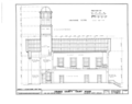 Orange County Courthouse, King and Churton Streets, Hillsborough, Orange County, NC HABS NC,68-HILBO,4- (sheet 7 of 20).png
