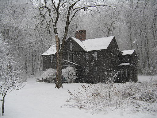 Orchard House in Winter, Concord MA