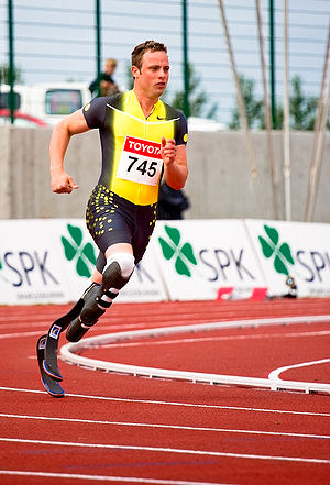 English: South African Paralympic runner Oscar...
