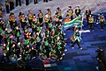 Oscar Pistorius leading South Africa's Paralympic Team in the opening ceremony of the 2012 Summer Paralympics in London - 20120829.jpg