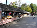 Oscypek sheeps cheese stalls, Zakopane.JPG