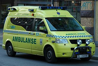 Norwegian Public Safety Network - Ambulance operating in Oslo