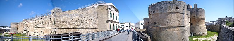 Panorama of Otranto castle