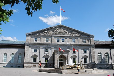 Rideau Hall, the principal Canadian official residence of Canada's sovereign, and the sovereign's representative, the governor general Ottawa - Rideau Hall.JPG
