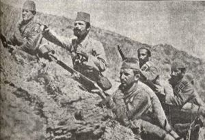 Karadağ Border General Forces - Image: Ottoman soldiers at Montenegrin border, 1912
