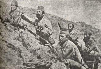 Karadağ Border General Forces - Image: Ottoman soldiers at Montenegrin border, 1912