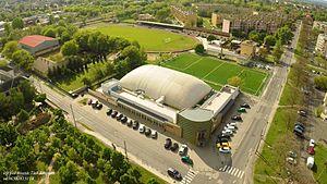 Buzánszky Jenő Stadion - Image: Overview of the stadium in 2016