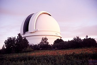 ESO 3.6 m Telescope - Image: P200 Dome Open