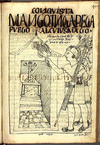 Siege of Cusco - The siege of Cusco according to Felipe Guaman Poma de Ayala