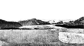 Taku Inlet - The Norris Glacier as it empties into Taku Inlet, 1889.