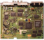 An early PlayStation motherboard