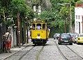 Packed tram 11 climbing Rua Murtinho on Rio de Janeiro's Santa Teresa line in 2008.jpg