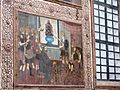 Painting on wood depicting Saint Francis of Assisi's visit to the sultan of Damascus.jpg