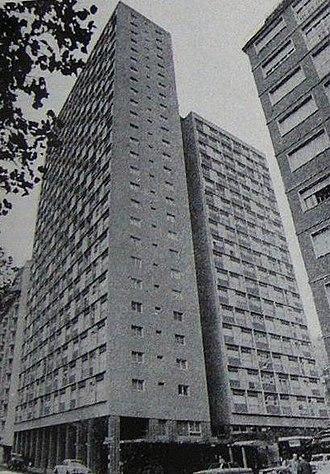 Arturo Frondizi - Highrises in Mar del Plata dating from the Frondizi era, when modern architecture came into vogue locally