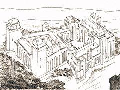 Pavepaladset, tegning af Jean-Marc Rosier