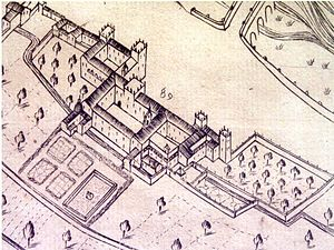 Real Palace - View of the palace in 1609