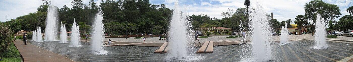 Fonte na Praça Octavio Moura Andrade.