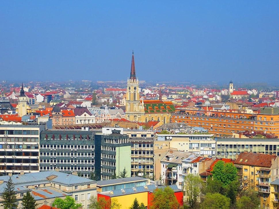 Panorama Novovg Sada sa zgrade Radničkog Univerziteta - panoramio (6)