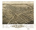 Panoramic view of the city of Ravenna, county seat of Portage Co., Ohio 1882. LOC 73694515.jpg